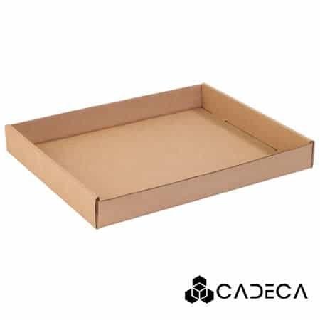 15 x 12 x 1 3/4 Bandejas de cartón corrugado Kraft 50 / paquete
