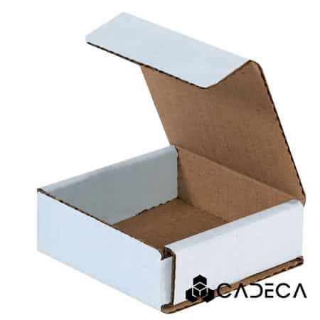 3 x 3 x 1 sobres de cartón corrugado blanco 50 / paquete