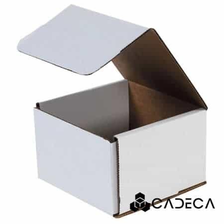 3 x 3 x 2 sobres de cartón corrugado blanco 50 / paquete