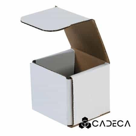 3 x 3 x 3 sobres de cartón corrugado blanco 50 / paquete