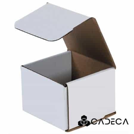 4 x 4 x 3 sobres de cartón corrugado blanco 50 / paquete0 / paquete