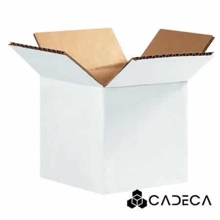 4 x 4 x 4 cajas de cartón corrugado blanco 25 / paquete