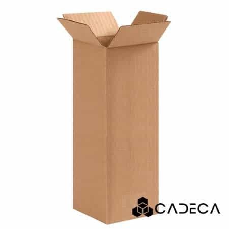 4 x 4 x 10 cajas de cartón ondulado 25 / paquete