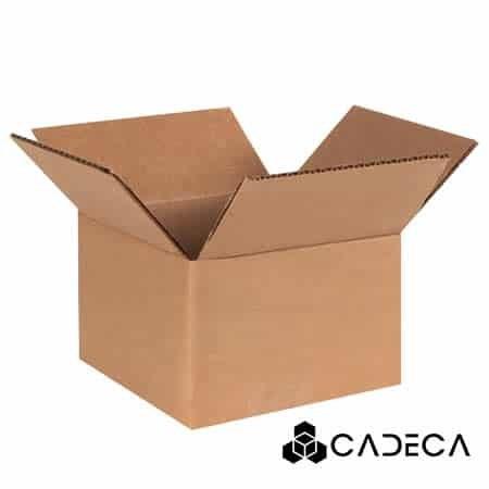 4 x 4 x 3 cajas de cartón ondulado 25 / paquete