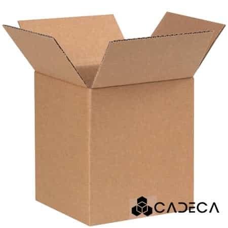4 x 4 x 5 cajas de cartón ondulado 25 / paquete