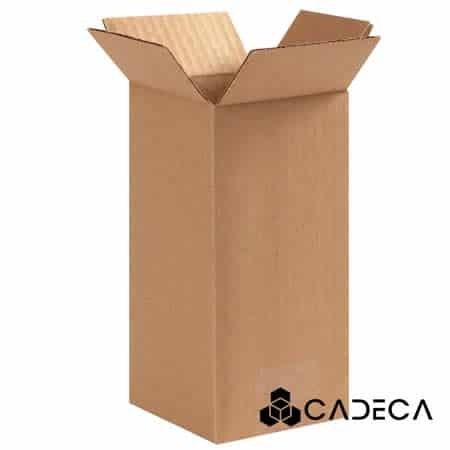 4 x 4 x 8 cajas de cartón ondulado 25 / paquete