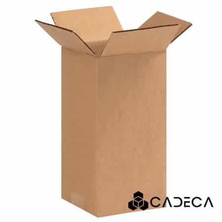 4 x 4 x 9 cajas de cartón ondulado 25 / paquete