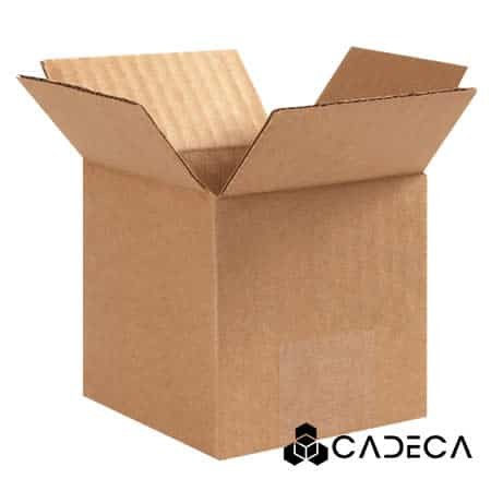 4 x 4 x 6 cajas de cartón ondulado 25 / paquete