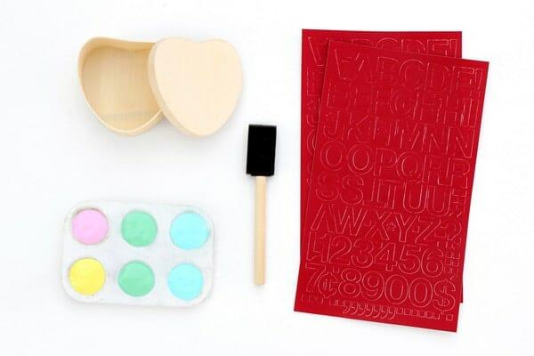 Suministros de caja de regalo de San Valentín DIY