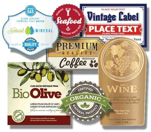 Etiquetas impresas personalizadas, etiquetas alimentarias